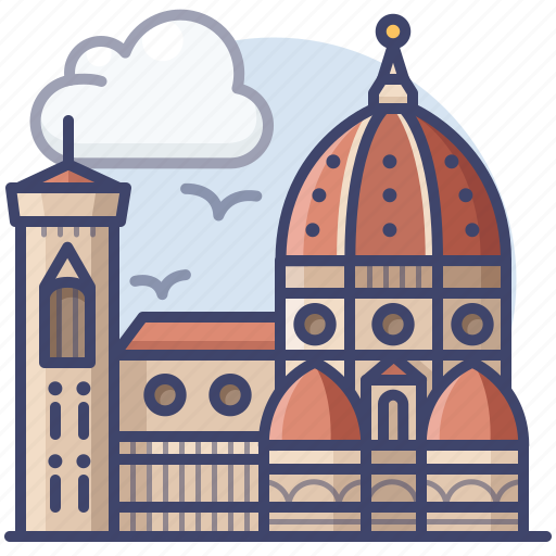 Cathedral, florence, italy, landmark icon - Download on Iconfinder
