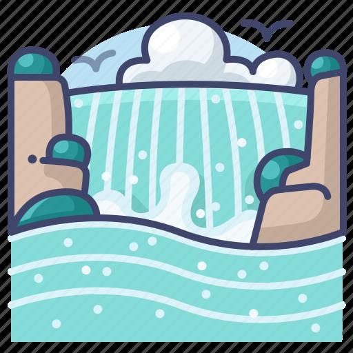 falls, landscape, niagara, waterfall icon