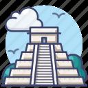chichen, itza, mayan, pyramids icon