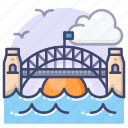 bridge, harbor, landmark, sydney
