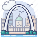 arch, gateway, national, park