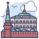 kremlin, landmark, moscow, russia