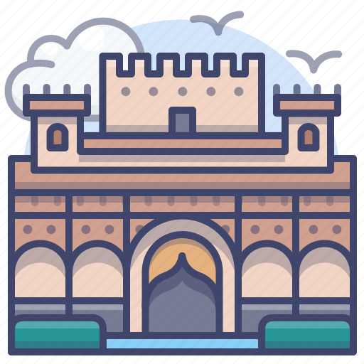 Alhambra, fortress, landmark, spain icon - Download on Iconfinder