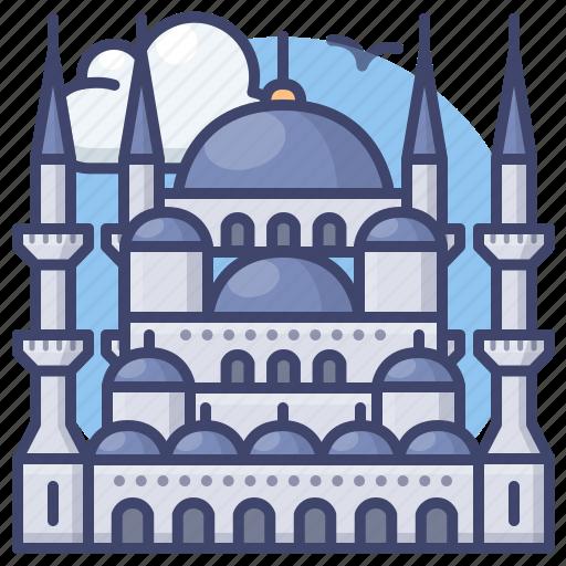 blue, istanbul, mosque, turkey icon