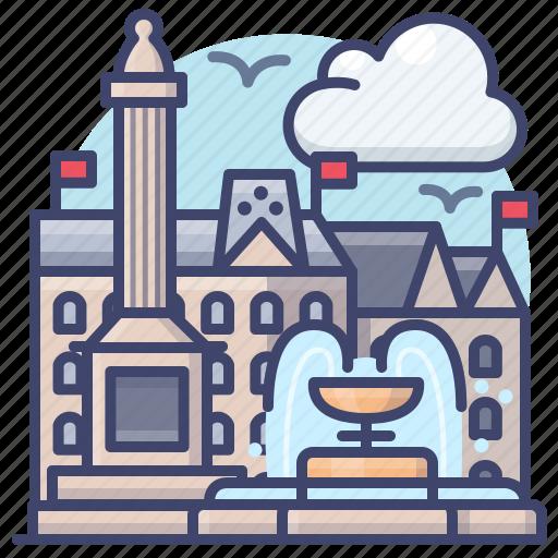 england, london, square, trafalgar icon