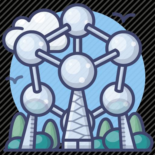 Atomium, belgium, brussels, landmark icon - Download on Iconfinder