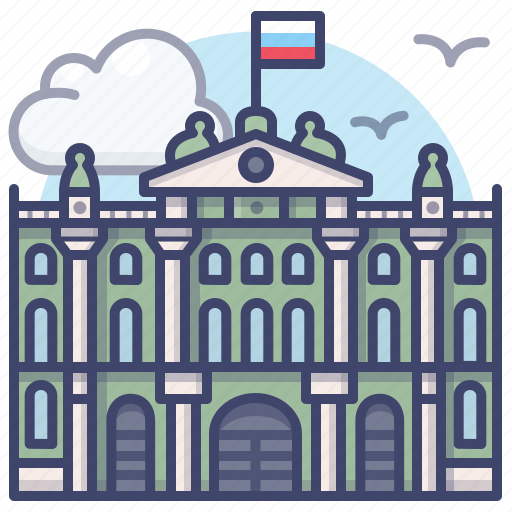 landmark, palace, russia, winter icon