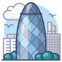 uk, london, gherkin, landmark icon