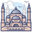 hagia, istanbul, sophic, turkey icon