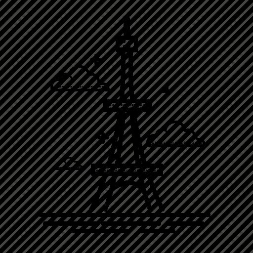 eiffel, europe, france, landmark, paris, tower, travel icon