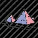 egypt, landmark, pyramids, tourism icon