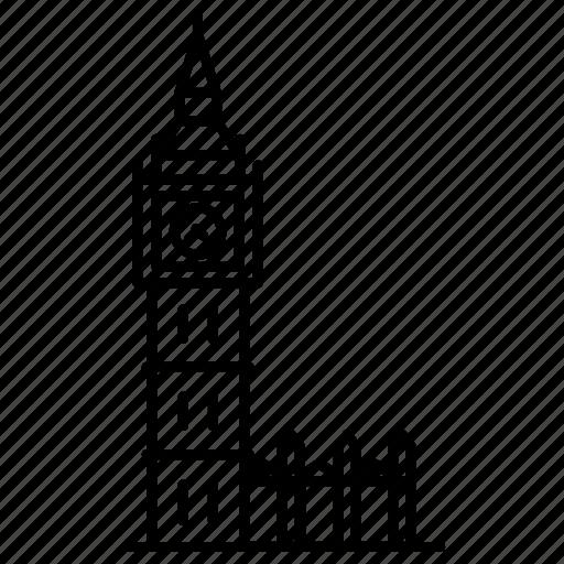 ben, big, landmark, london, travel, uk, wonder icon