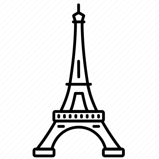 eiffel, landmark, paris, tower, travel, wonder icon