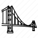 bridge, california, gate, golden, landmark, san francisco, travel icon
