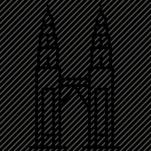 landmark, malesia, petronas, travel, wonder icon
