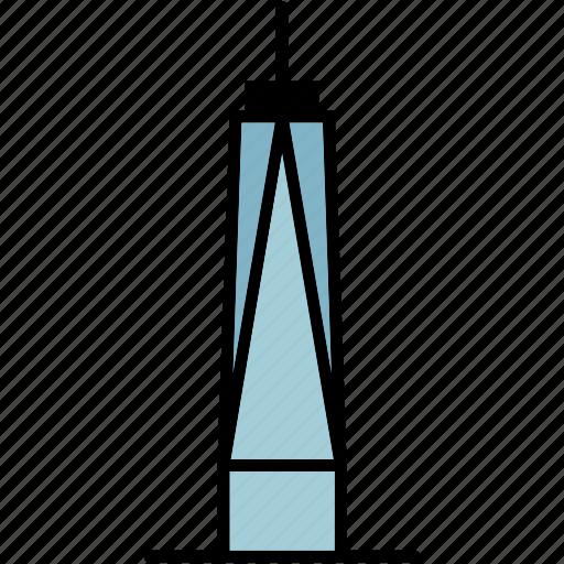 building, manhattan, new york, skyscraper, trade, usa, world icon