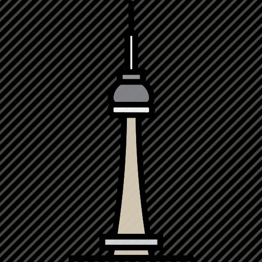 building, canada, cn, toronto, tower icon