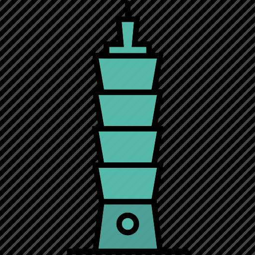 building, mall, skyscraper, taipei, taiwan icon