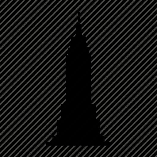 Building, empire, manhattan, new york, skyscraper, state, usa icon - Download on Iconfinder