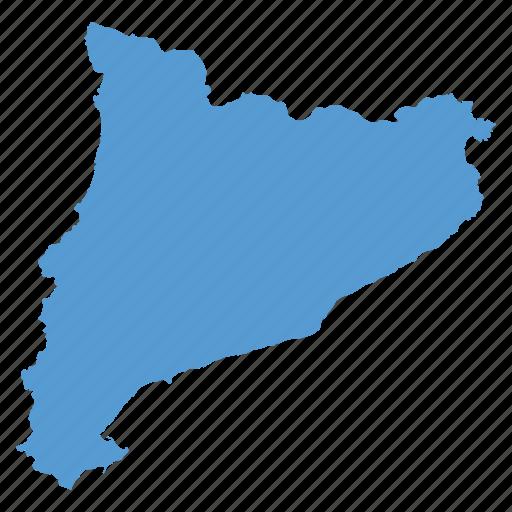 catalonia, catalunya, country, european, map, national, region icon
