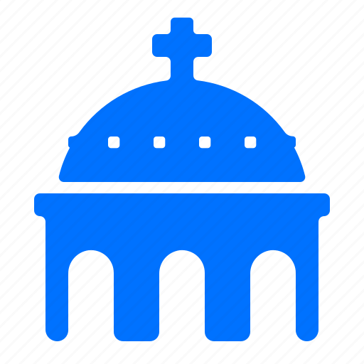 Blue, church, domed, greece icon - Download on Iconfinder