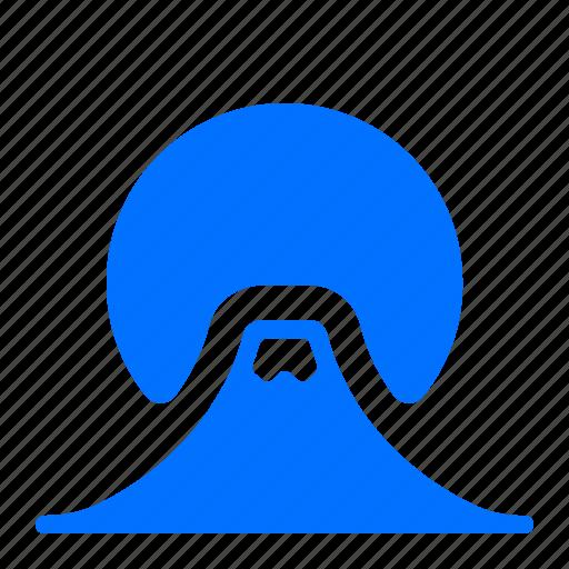 fiji, landmark, mountain icon