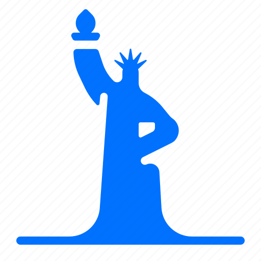 lady, landmark, liberty, monument icon