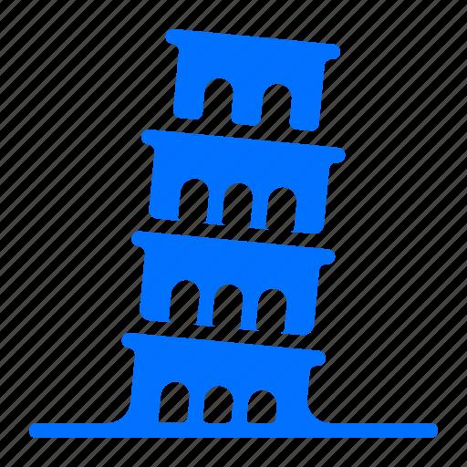 italy, monument, pisa, tower icon