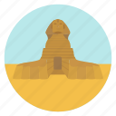 ancient, cairo, egypt, egyptian, monument, sphinx, world monuments icon