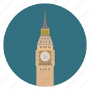 big ben, britain, circle, england, london, monument, uk, world monuments icon