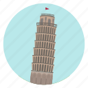 tuscany, leaning tower, italy, pisa, world monuments, monument icon