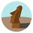chile, easter island, moai, monolithic, monument, south america, world monuments icon