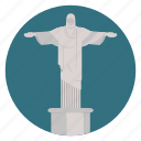 brazil, christ, christ the saviour, jesus, monument, rio, rio de janeiro, world monuments icon