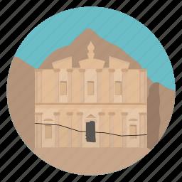 archeology, jordan, monastery, monument, petra, stone city, world monuments icon