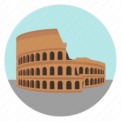 colosseum, international, italy, monument, rome, ruins, world monuments icon