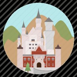 castle, germany, monument, schloss schwanstein, schwanstein, world monuments icon
