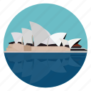 australia, monument, opera house, sydney, world monuments icon