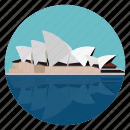 australia, monument, opera house, sydney, world monuments icon