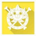 one piece, sunny, thousand, thousand sunny go icon