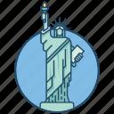 america, famous building, landmark, liberty, statue, statue of liberty usa, usa