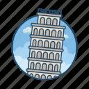 famous building, gravity, landmark, learning, learning tower of pisa, pisa, tower