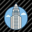 america, angeles, city, city hall usa, famous building, landmark, usa icon