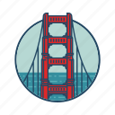 bridge, california, famous building, gate, golden gate usa, landmark, united
