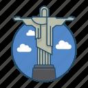america, brazil, famous building, janeiro, landmark, rio, rio de janeiro brazil