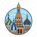 basil, church, dome, landmark, moscow, russia, st basils cathedral icon