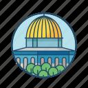 dome, famous building, islamic, landmark, palestine, religious, rock