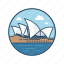 australia, destination, famous building, landmark, ocean, sydney, tourism