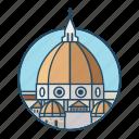 basilica, basilica di santa maria del fiore, church, dome, famous building, italy, landmark