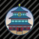 china, famous building, japanese, korean, landmark, religious icon
