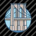 america, bridge, brooklyn, famous building, landmark, manhattan, tower icon